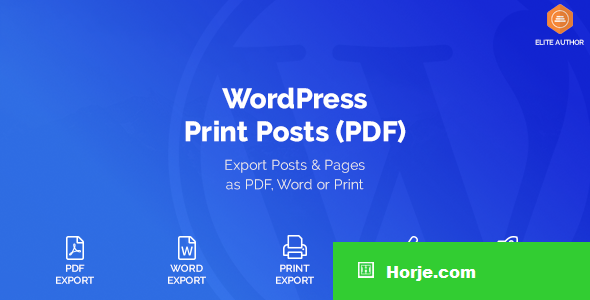 WordPress Print Posts & Pages (PDF) v1.4.0