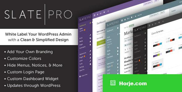 Slate Pro v1.1.8 - A White Label WordPress Admin Theme