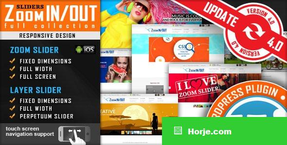 Responsive Zoom In/Out Slider v4.2.9 - WordPress Plugin