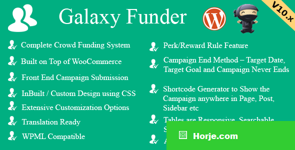 Galaxy Funder v11.4 - WooCommerce Crowdfunding System
