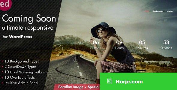 Coming Soon CountDown v3.6 - Responsive WordPress Plugin