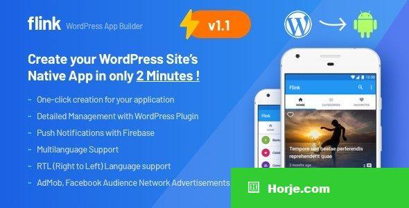 Flink v1.1.5 - WordPress App Builder (Auto WordPress to Native Android App) + Ultimate Admin Panel