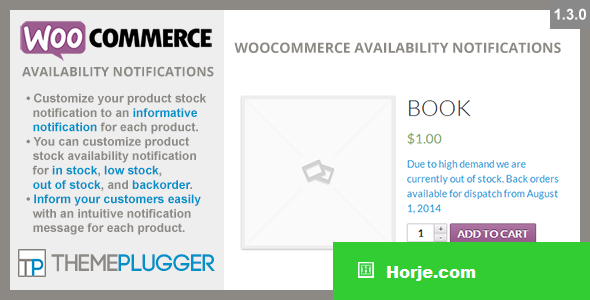WooCommerce Availability Notifications v1.3.0