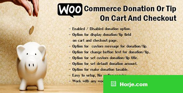 WooCommerce Donation Or Tip On Cart And Checkout v1.4