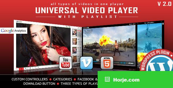 Universal Video Player v2.9 - WordPress Plugin