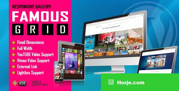 Famous v1.0 - Responsive Image And Video Grid